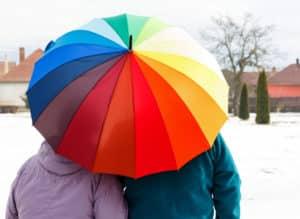 Regenschirme für Rollator