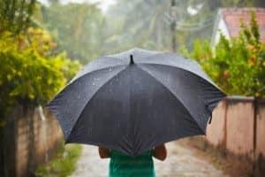 Sturm Regenschirme